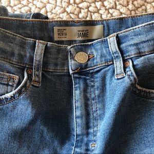 Topshop Moto Jamie High Waist Jeans